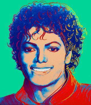Michael Jackson, Andy Warhol. 1984.