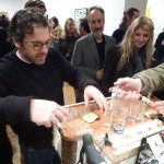 Tom Sachs preps shots from his Tequila Bike